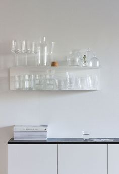 Glassware storage in
