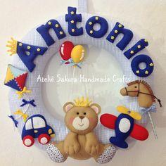 Guirlanda tema Urso Príncipe para o Antonio