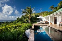 Obsessed with this hotel- all private villas with beautiful pools! Hotel Le Toiny in St Barths!