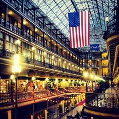 #Cleveland's Hyatt Regency Hotel located in the historic Arcade  DH and I stayed here for our 5th Wedding Anniversary.  Lovely, historic space.