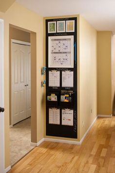 24 Back to School Organization Ideas - Family Chalkboard Command Center
