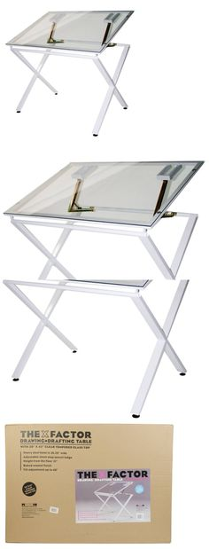 Drawing Boards And Tables 183083: Drafting Table Drawing Glass Top  Adjustable Draft Tables Hobby Craft