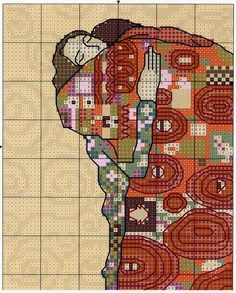 GRAFICOS PUNTO DE CRUZ GRATIS : CUADROS KLIMT(9) Cross Stitch Designs, Cross Stitch Patterns, Cross Stitch Collection, Hello Kitty, Cross Stitch Flowers, Mythical Creatures, Beading Patterns, Needlepoint, Bohemian Rug