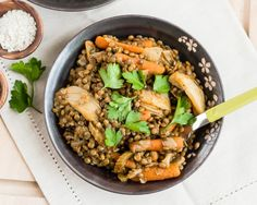 Braised Vegetables and Lentils
