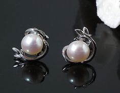 925 silver pearl earrings