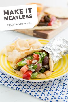 Grilled Veggie Gyros with Creamy Cucumber Dill Sauce