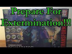 Transformers Combiner Wars Devastator Unboxing and Transformation
