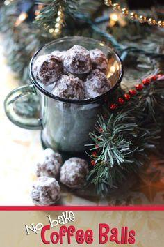 No Bake Coffee Balls Recipe. Make Ahead and Freeze.