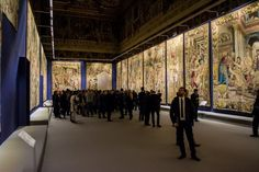 A unique exhibition at the Quirinale in Rome that presents - for the first time in 150 years - 20 tapestries commissioned by Cosimo I de' Medici. | #ledlab #blog #lighting #events #Rome #exhibition