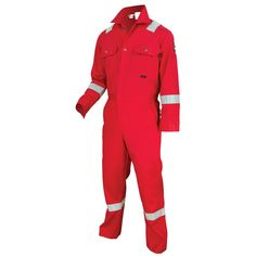 MCR Safety DC1RR Deluxe Reflective FR Coveralls - Red - Whether working in  the rugged oil aa676bf32f