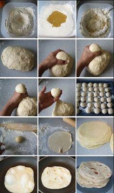 This homemade flour tortilla recipe produces warm and soft tortillas perfect for soft tacos or burritos. Think Food, I Love Food, Good Food, Yummy Food, Yummy Yummy, Recipes With Flour Tortillas, Homemade Flour Tortillas, How To Make Tortillas, Flour Tortilla Recipe No Lard