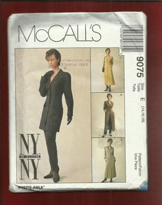 McCalls 9075 Shirt Dress by NY NY with by ThimbledFingerTips