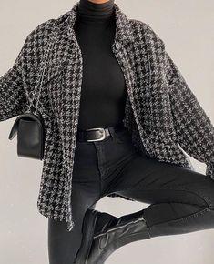 Glamouröse Outfits, Cute Casual Outfits, Stylish Outfits, Fall Outfits, Flannel Outfits, Urban Outfits, Winter Fashion Outfits, Look Fashion, Korean Fashion