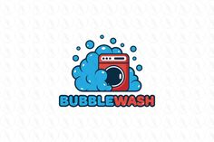 Bubble Wash - $399 (negotiable) http://www.stronglogos.com/product/bubble-wash #logo #design #sale #washing #machine #laundromat #cleaning