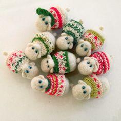 felted sheep-new year symbol 2015 van vilnone op Etsy