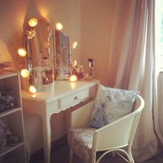 Fairy Lights Around Mirror Over Fireplace I Like