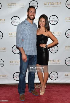 Major League Baseball's pitcher for the Texas Rangers Anthony Bass and Sydney Rae James attend the launch of her clothing brand 'Kittenish' at Gramercy Park Hotel on November 2015 in New York City. Ucla Basketball, Basketball Legends, Sydney Rae Bass, League City Texas, Texas Parks, Rangers News, James Decker, Jessie James, Texas Rangers