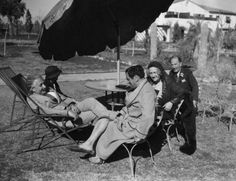 Einstein recuperating, Palm Springs, 1933