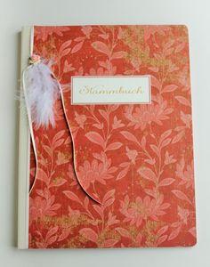 Stammbuch für die Hochzeit,handgefertigt von Papiergarten Doreen Froede