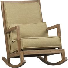 Jeremiah Jute Back Rocker in Chairs | Crate and Barrel. So adorable & homey :)