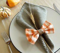 Rond de serviette aux couleurs et motifs de la saison