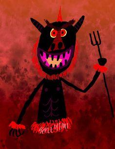 Lou Romano: EYE-LIKEY Demons, Devil, Monsters, Beast, Presents, Sketches, Illustrations, Winter, Artist