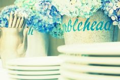 Wedding Inspiration: Hydrangea Blue and Steel Grey - Project Wedding