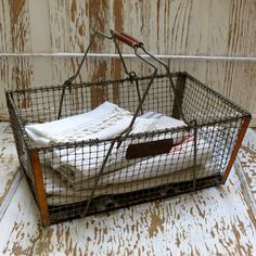 Perfectly Vintage French....Wire Basket