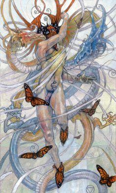The Fool 12X18 Poster Print from The Mary-el Tarot by MaryelTarot