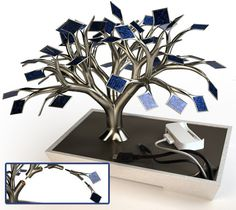 #Bonsai #fotovoltaico per ricaricare #cellulari  #green #energia
