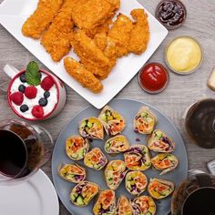 Featuring Berry Chocolate Mug Cake, Rainbow Veggie Pinwheels, Potato Chip Chicken Tenders and Sheet-Pan Bruschetta