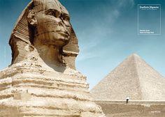 Charakternasen: Die F.A.Z. zeigt Vitali Klitschko neben der Sphinx von Gizeh als klugen Kopf für die legendäre F.A.Z.-Kampagne. © Frankfurter Allgemeine Zeitung (FAZ) http://www.faz.net