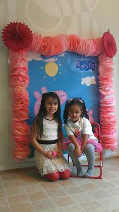 Peppa pig photo booth