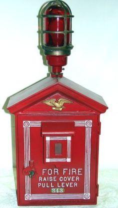 1435: Vintage Fire Alarm Box W/Light & Telegraph LAFD : Lot 1435