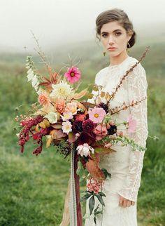 """Free Form"" Wedding Bouquet"