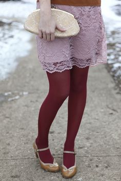 girl did 2-14 right!  this is how we do pink on red and still look like a grown-up.  Accent with copper and nudes with delicate details.  look at those shoes! If I could thrift as well as she does, I'd have it made | sundaycrossbow