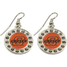 Ladies, finish off your outfit with some Cowboys flair when you sport these Round Crystal earrings featuring an acrylic team logo inlay surrounded by flirty rhinestone accents!