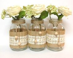This Burlap and Lace Mason Jars craft will show you that you can transform any ordinary household item, into something extraordinary.