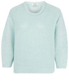 Acne Mint Green Shelby Cropped Jumper