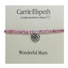 Carrie Elspeth Mum Bracelet on Card £9.99 at Macmillans of Penwortham