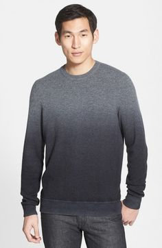 Vince Men's Dip Dye Wool Cashmere Crewneck Sweater | Clothing
