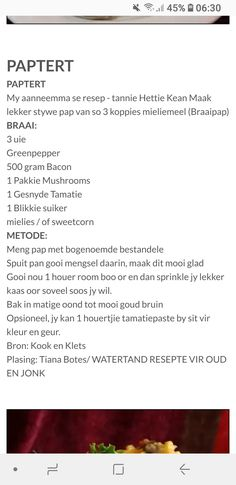 Paptert 100 Cookies Recipe, Braai Recipes, Appetizer Recipes, Cooking Recipes, Quiche Tart Recipe, Cheese And Bacon Muffins, Bread Dishes, Homemade Biscuits