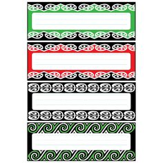 Use these decorative Kowhaiwhai designs to label almost anything in your classroom Classroom Labels, Classroom Organisation, Classroom Themes, School Resources, Teacher Resources, Maori Songs, Waitangi Day, Maori Patterns, Maori Designs