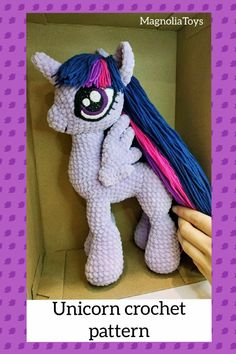 Crochet PATTERN unicorn, Amigurumi pattern, Alicorn, My little pony plush Amigurumi unicorn doll Crochet Pony, Crochet Eyes, Crochet Unicorn, Unicorn Pattern, Crochet Patterns For Beginners, Crochet Patterns Amigurumi, Handmade Toys, Handmade Ideas, Etsy Handmade