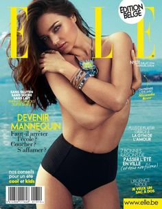 awesome Miranda Kerr para Elle Bélgica Julho 2014  [Capa]
