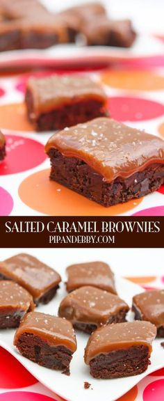 Salted Caramel Brownies - salty, gooey, sweet and chocolately...all in a single delicious bite!