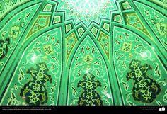 Arte islamico  Azulejos y mosaicos islamicos (Kashi Kari) realizados en paredes techos y #cupulas del Instituto Academico Cultural Dar-alHadith Qom Iran  #IslamOriente  Imagen en alta resolución en:http://ift.tt/2fedOpr