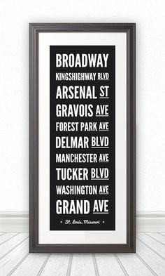 St Louis, Custom Sign, Street Sign, St Louis Streets, St Louis Art, St Louis Print, St Louis Poster, Saint Louis, St Louis Sign - 10x28 on Etsy, $39.00