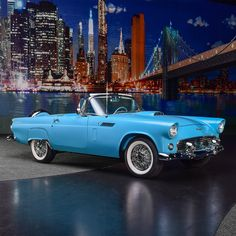 """The 1956 Ford Thunderbird was rated """"America's Most Exciting Car"""", and this magnificent example is powered by a engine with automatic transmission. From the John Staluppi Cars of Dreams Collection. Ford Motor Company, Convertible, Vintage Cars, Antique Cars, Ford Thunderbird, Amazing Cars, Awesome, Us Cars, Collector Cars"""