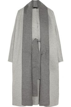 Again, The Row knows how to design these tailored yet oversized silhouettes with clean lines and ease.  #layeredny The Row Arnet brushed wool-felt coat | NET-A-PORTER